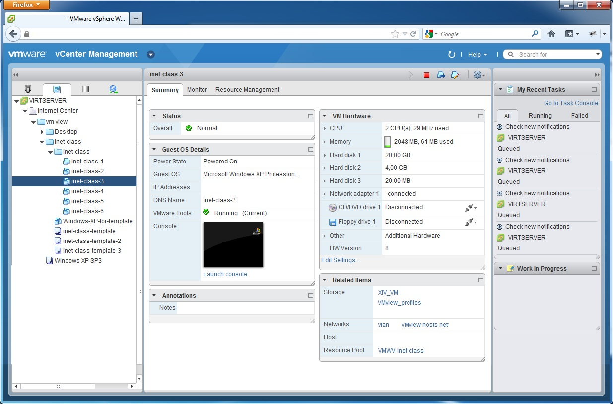 vmware vcenter webclient example