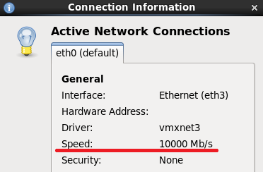vmxnet 10Gbit/s